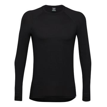 Torpedo7 Men's Merino Brighton Long Sleeve Tee - V2 - Black