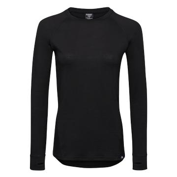 Torpedo7 Women's Merino Brighton Long Sleeve Tee - V2 - Black