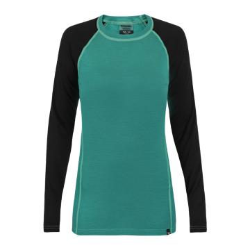 Torpedo7 Youth Merino Brighton Long Sleeve Tee - V2 - Teal/Black