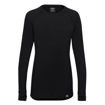 Torpedo7 Youth Merino Brighton Long Sleeve Tee - V2 - Black