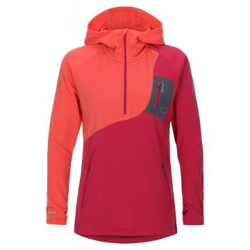 Torpedo7 Women's Merino Eco Long Sleeve 1/2 Zip Hoodie