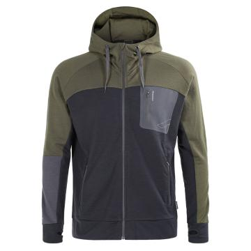 Torpedo7 Men's Merino Hatton Hooded Jacket - charcoal/olive