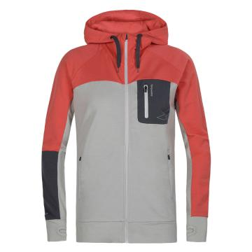 Torpedo7 Women's Merino Hatton Hooded Jacket - Silver Marle/Coral