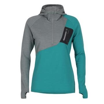 Torpedo7 Women's Merino Eco Long Sleeve 1/2 Zip Hoodie - V2