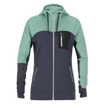 Torpedo7 Women's Merino Hatton Hooded Jacket - Light Mint/Shadow
