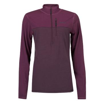 Torpedo7 Women's Merino Ridge 1/4 Zip - Plum