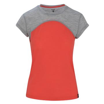 Torpedo7 Women's Short Sleeve Peak Merino Tee - Furnace