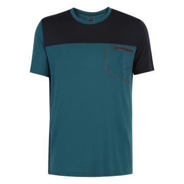 Torpedo7 Merino Men's Newland S/S Tee - Dark Teal/Charcoal