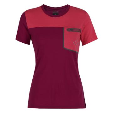 Torpedo7 Merino Women's Newland S/S Tee - Raspberry/Bright Strawberry