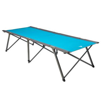 Torpedo7 Single Person Sahara Camp Stretcher - Teal/Grey