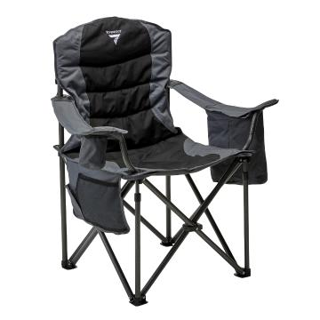 Torpedo7 Olympus Camping Chair (200kg capacity) - Black/Grey