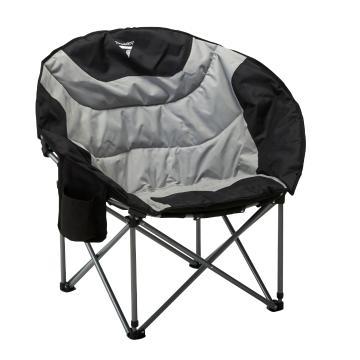 Torpedo7 La Luna Chair with Drink Holder V2 - Dark Grey/Black