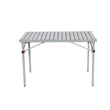 Torpedo7 Deluxe Fold Up Camp Table - Steel/Light Steel