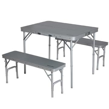 Torpedo7 Quattro Aluminium Table & Double Bench Set