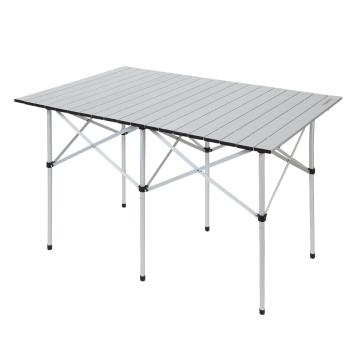 Torpedo7 Deluxe Rollup Aluminium Camp Table - Aluminium