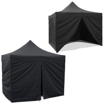 Torpedo7 3x3 Folding Gazebo Tent Walls - Black