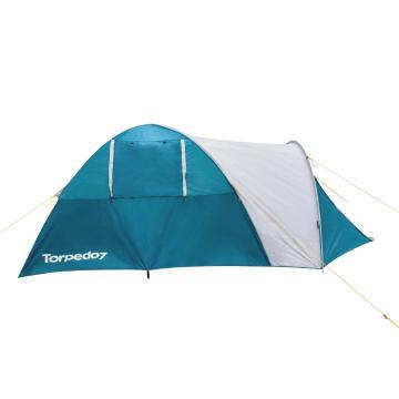Torpedo7 Hideaway 4 Person Tent - Petrol/Grey