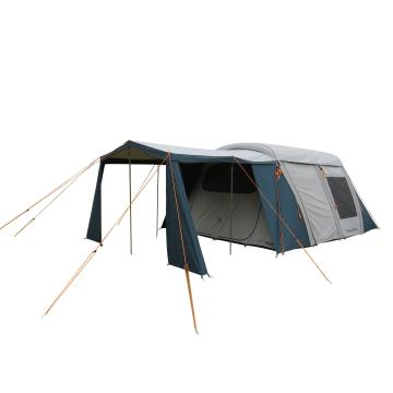 Torpedo7 Rockwood  Air Canvas 2 Room Family Tent - Ink/Grey