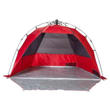 Torpedo7 Express Sun Shelter (Family) - Chilli Red/Grey
