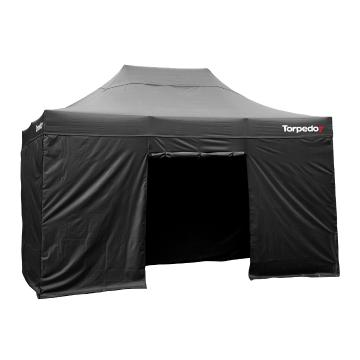 Torpedo7 Folding Gazebo 4.5x3 - Walls (4) - Black