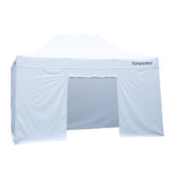 Torpedo7 Folding Gazebo 4.5x3 - Walls (4) - Black - White