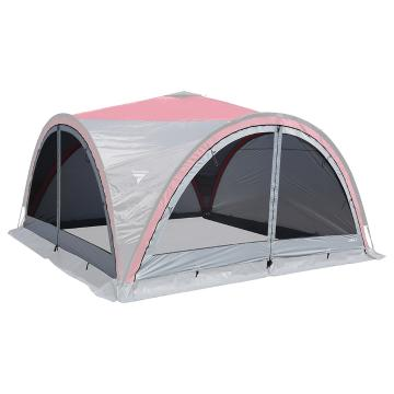 Torpedo7 Corral 4 Mesh Side Wall with Zip - Silver Cloud