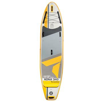 "Torpedo7 11'2"" Kona II 340 Inflatable SUP Package - Yellow/Grey"