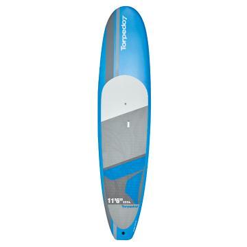 "Torpedo7 EVS-HDPE Soft Top SUP & Paddle Combo 11'6"" - Blue"