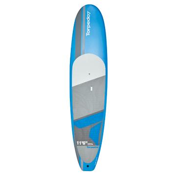 Torpedo7 11.6 EVS-HDPE Soft Top SUP & Paddle Combo - Blue