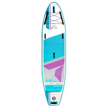 "Torpedo7 11'2"" Lani 340 Inflatable SUP Package - Teal/Grey"