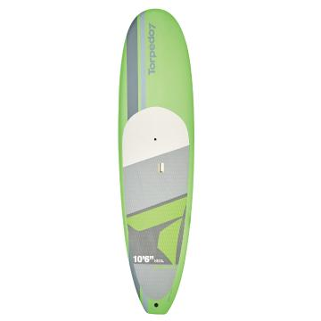 Torpedo7 10.6 EVS-HDPE Soft Top SUP & Paddle Combo - Lime Green/Grey