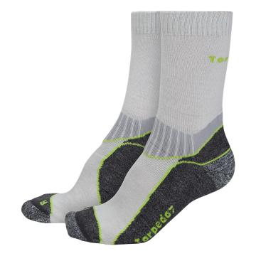 Torpedo7 Incline Light Hiking Socks - Grey/Lime