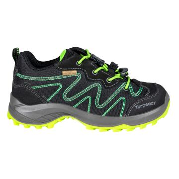 Torpedo7 Tasman II Junior Hiking Shoe - Black/Lime