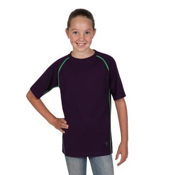 Torpedo7 Youth Merino Torres Short Sleeve Tee - 240gsm - Blackberry Cordial