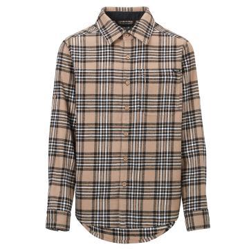 Torpedo7 Kids Boys' Long Sleeve Flanelette Venture Shirt - Fossil