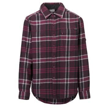 Torpedo7 Kids Girls' Long Sleeve Woodland Flanelette Shirt - Plum