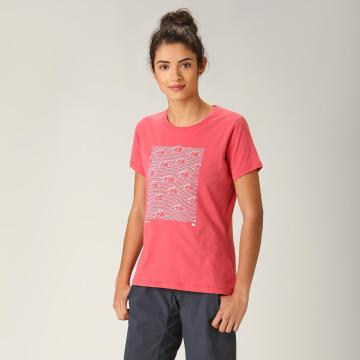 Torpedo7 Women's Graphic Tee - Coral