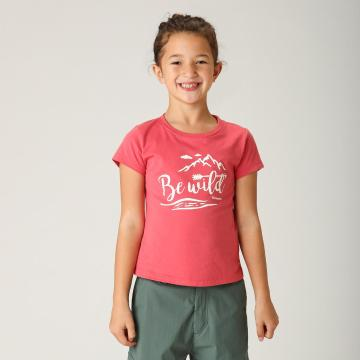 Torpedo7 Girls' Graphic Tee - Coral