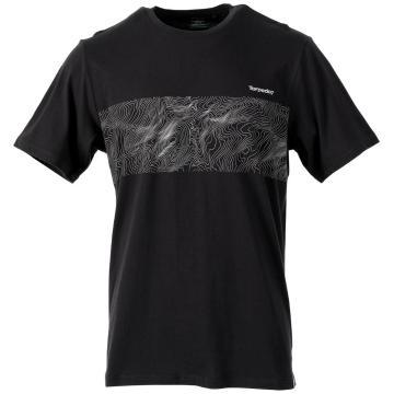 Torpedo7 Men's Short Sleeve Explore Graphic Tee - Black