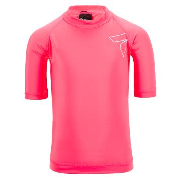 Torpedo7 Kids Mystic Short Sleeve Rash Top - Pink
