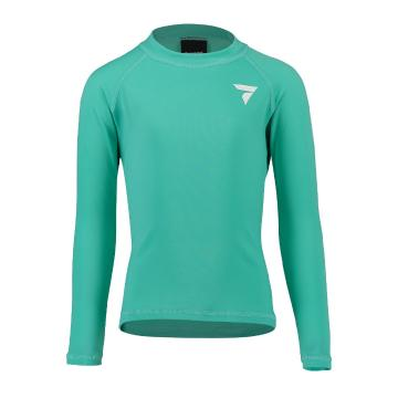 Torpedo7 Kids Tide Long Sleeve Rash Top - Teal - Teal/Teal