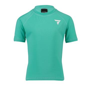 Torpedo7 Kids Tide Short Sleeve Rash Top - Teal - Teal