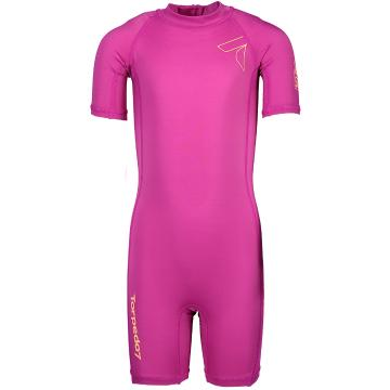 Torpedo7 Kids Reef Rash Suit - Crimson