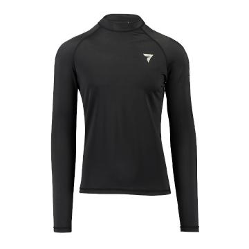Torpedo7 Coast Men's Long Sleeve Rash Top - Black - Black/Black