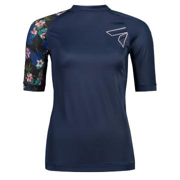 Torpedo7 Women's Mystic Short Sleeve Rash Top - Navy/Floral