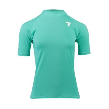 Torpedo7 Women's Tide Short Sleeve Rash Top - Teal - Teal/Teal