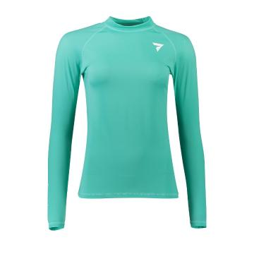 Torpedo7 Women's Tide Long Sleeve Rash Top - Teal - Teal/Teal