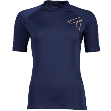 Torpedo7 Womens Mystic S/S Rash Top  - Navy