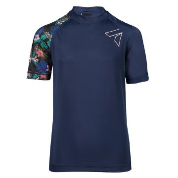 Torpedo7 Youth Mystic Short Sleeve Rash Top - Navy/Floral