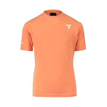 Torpedo7 Youth Tide Short Sleeve Rash Top - Coral - Coral